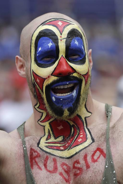 Torcedores que se destacam na Copa da Rússia