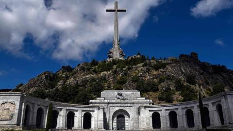 Picture taken on July 03, 2018 in San Lorenzo del Escorial, near Madrid of the Valle de los Caidos (The Valley of the Fallen), a monument to the Francoist combatants who died during the Spanish civil war and Franco's final resting place. 