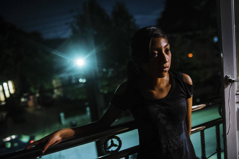 Yoselyn Bulux, 15, da Guatemala, foi separada da sua mãe na fronteira com os EUA