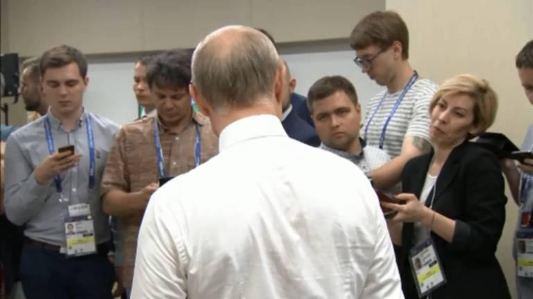 ?Vladimir Vladimirovich? na coletiva pós-jogo