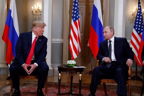 Antes de encontro com Putin, Trump diz que relações com a Rússia nunca estiveram piores
