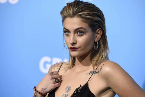 FILE - In this March 6, 2018 file photo, Paris Jackson arrives at the Los Angeles premiere of