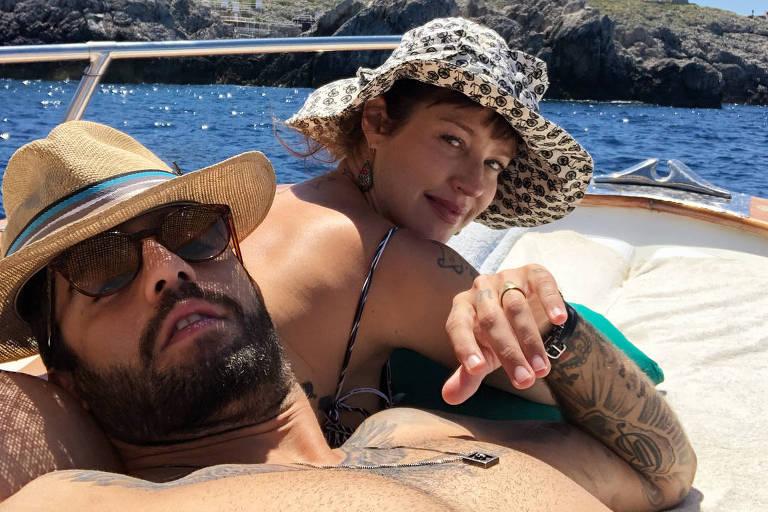 Luana Piovani e o marido, Pedro Scooby
