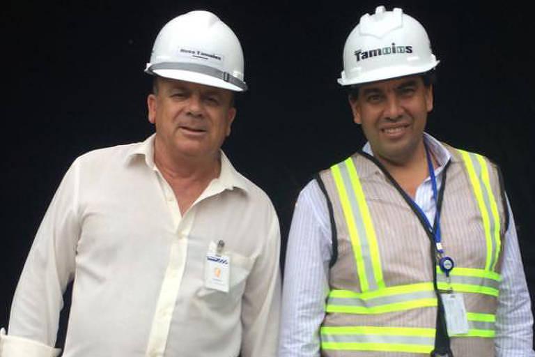 Vicente Floriano de Lima. Ele (à esquerda) ao lado do ex-diretor do Dersa Pedro da Silva