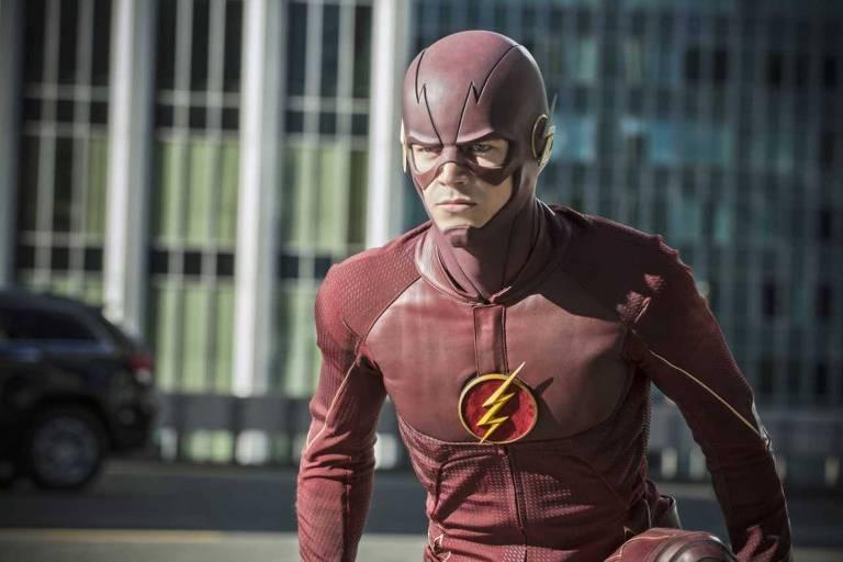 Grant Gustin como Barry Allen na série 'The Flash'