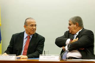 Padilha e Marun na reunião da Comissão da Reforma da Previdência