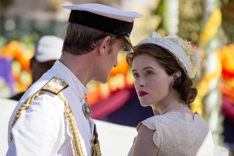 """Matt Smith e Claire Foy em cena de """"The Crown"""", produção da Netflix indicada ao Emmy"""