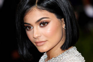 FILE PHOTO: Television personality Kylie Jenner arrives at the Met Gala in New York