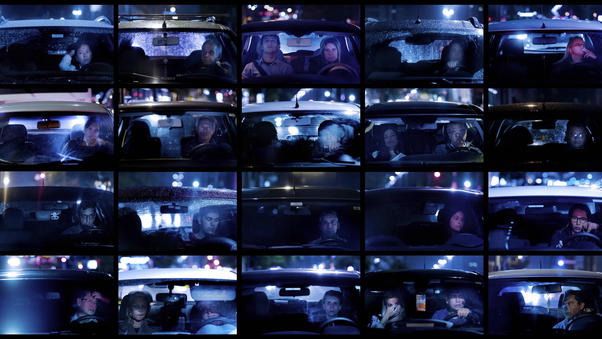 Motoristas em seus carros, no trânsito, em diversos pontos da cidade de São Paulo - Julio Bittencourt/Folhapress