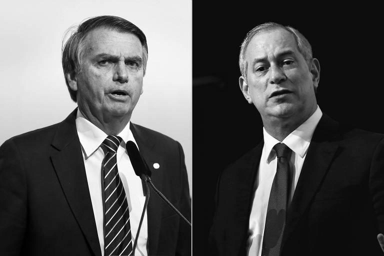 Jair Bolsonaro (PSL) e Ciro Gomes (PDT), pré-candidatos à Presidência