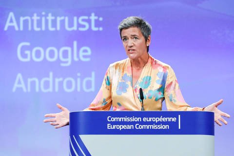 União Europeia multa Google em R$ 19 bi por prática anticompetitiva com Android