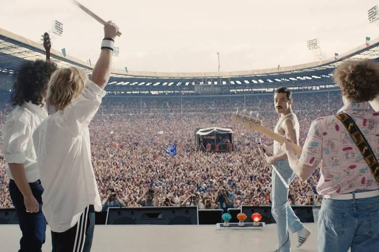 """Cena do filme """"Bohemian Rhapsody"""", que conta a história do cantor Freddie Mercury"""