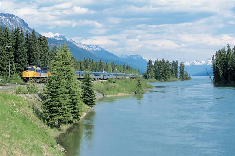Viagens longas de trem