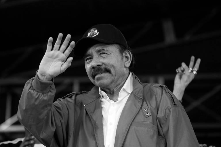 O presidente da Nicarágua, Daniel Ortega, durante evento em Manágua