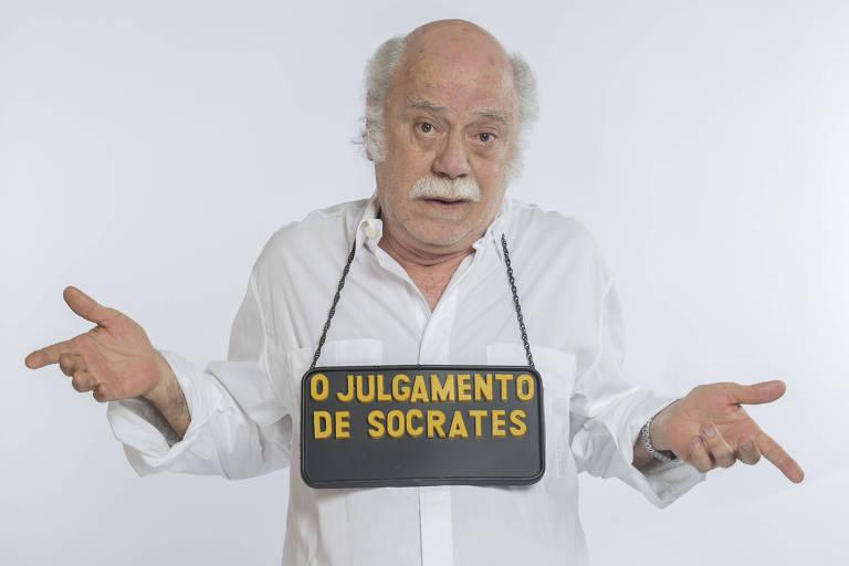 """Tonico Pereira celebra 50 anos de carreira no solo """"O Julgamento de Sócrates"""""""