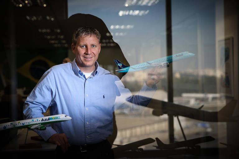 John Rodgerson, presidente da Azul; empresa completa 10 anos no Brasil