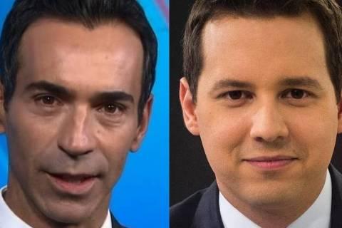 César Tralli e Dony De Nuccio são palestrantes, além de apresentadores de telejornais