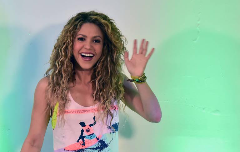 Shakira durante abertura dos jogos colombianos de 2018