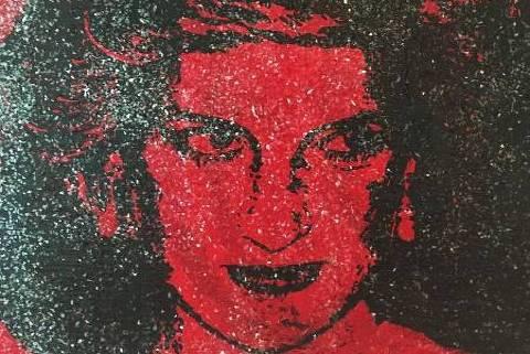 O retrato da princesa Diana feito com sangue com HIV e diamantes em pó