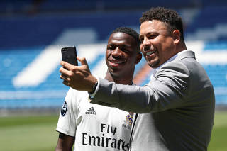 Real Madrid presents new Brazilian teenager Vinicius Junior