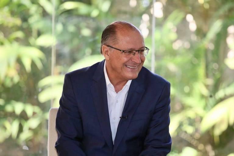 Geraldo Alckmin (PSDB) em encontro com mulheres da Fundação Brava, em São Paulo