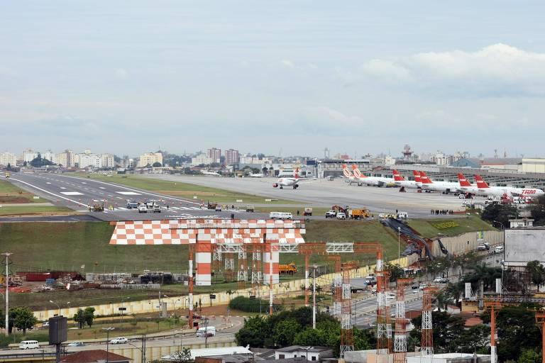 Pista Principal do aeroporto de Congonhas, em São Paulo