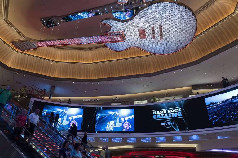 Unidade do Hard Rock Hotel em Atlantic City (EUA)