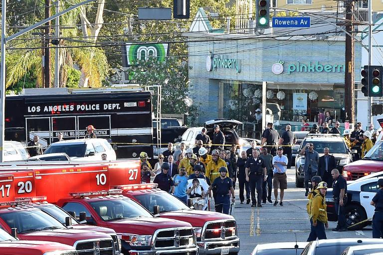 Polícia prende homem que atirou em mulher em mercado em Los Angeles