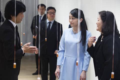 SAO PAULO, SP, BRASIL, 22-07-2018: A princesa do Japão Mako Akishino visita a instalação