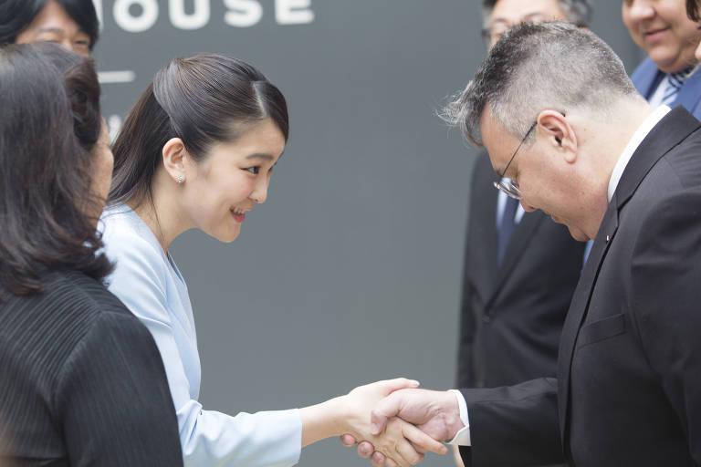 Visita da princesa Mako, do Japão, a São Paulo