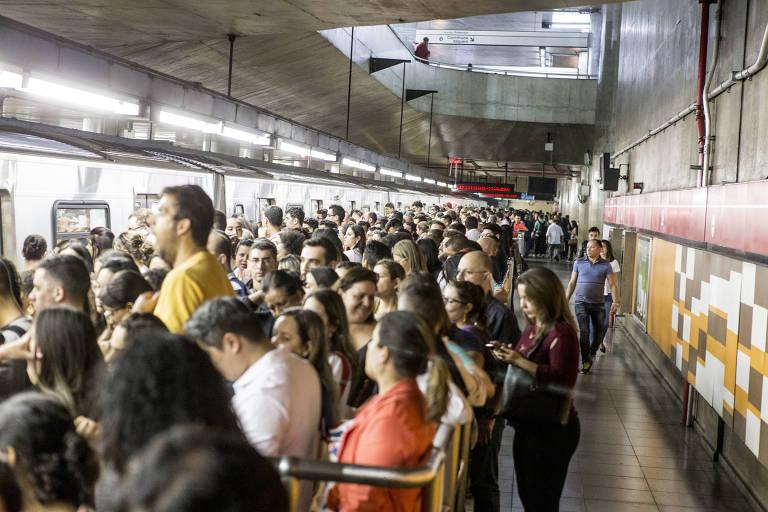 Falhas no metrô de SP
