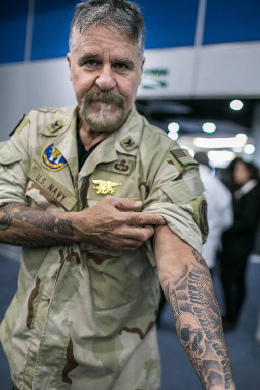 Ricardo Roriz, 60, durante a convenção de Bolsonaro