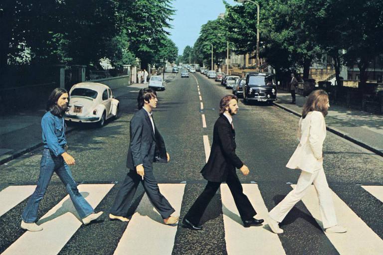 """Foto do álbum """"Abbey Road"""", o 12º dos Beatles, lançado em 1969"""