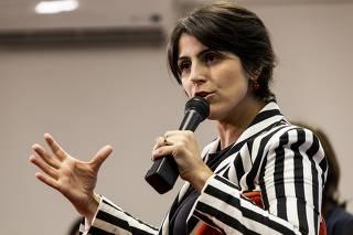 A pré-candidata à Presidência da República Manuela D'Ávila