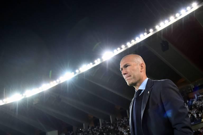 O ex-técnico do Real Madrid Zinedine Zidade