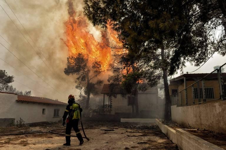 Europa sofre com incêndios e seca