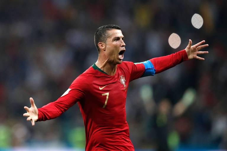 O português Cristiano Ronaldo, que jogou a última temporada no Real Madrid e se transferiu para a Juventus