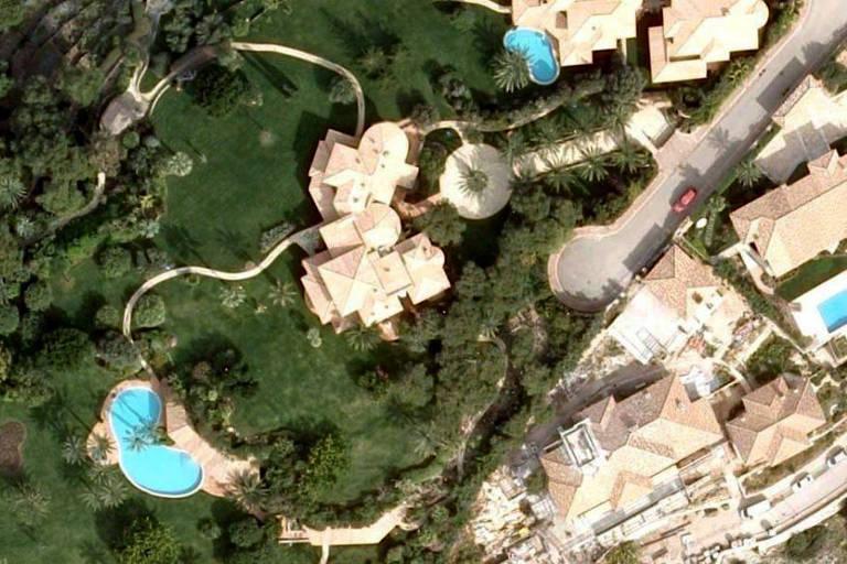 Imagem aérea da nova propriedade de Corinna Schumacher