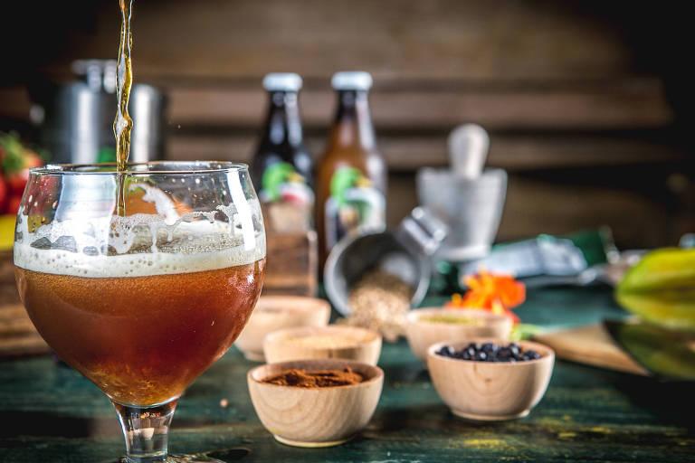 Cerveja da linha Jeffrey Concept, criada pela cervejaria do Rio em parceria com o Olympe, de Thomas TroisgrosDivulgação