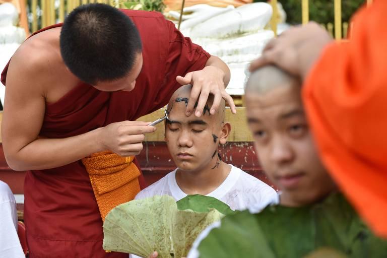 Meninos resgatados na Tailândia