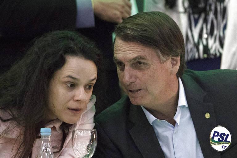 Janaína Paschoal com Jair Bolsonaro