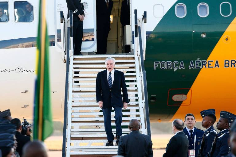 Presidente Michel Temer chega à África do Sul para a cúpula dos Brics