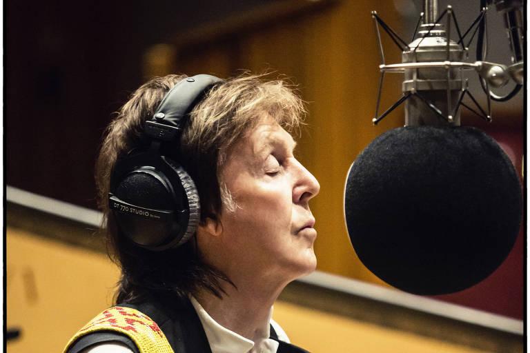 Paul McCartney em estúdio em Los Angeles na gravação de seu disco 'Egypt Station', em 2017