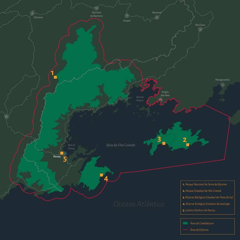 Mapa de litoral