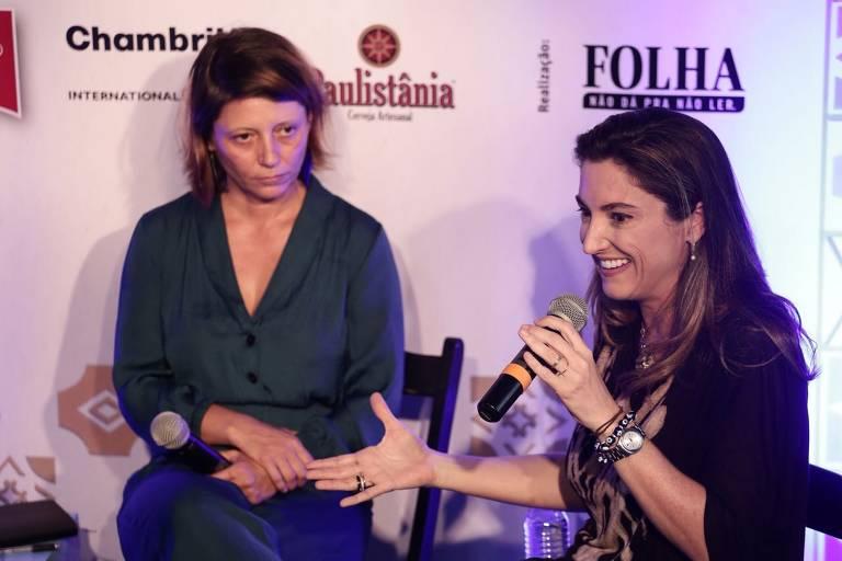 Ana Lemos, diretora-geral dos Médicos Sem Fronteiras, e a repórter Patrícia Campos Mello (da Folha) falam sobre suas experiência em zona de conflito em mesa da Casa Folha na Flip.