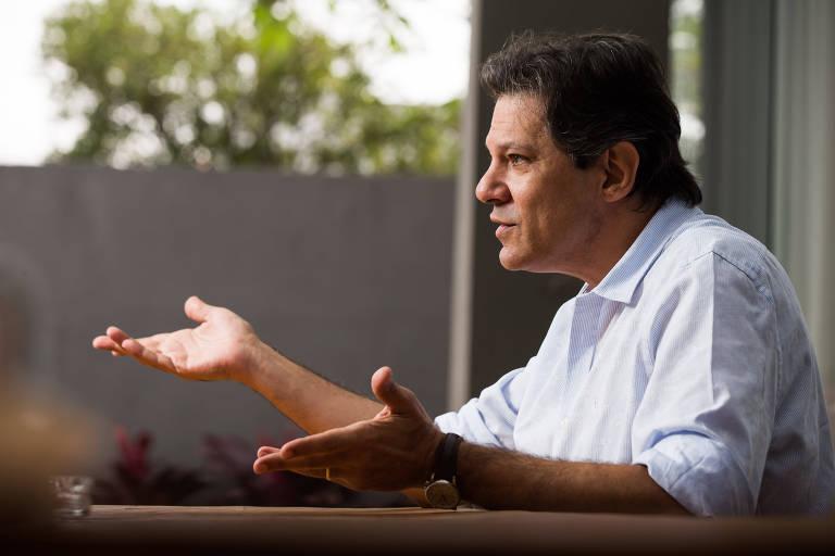 O coordenador do programa de governo da candidatura do PT, o ex-prefeito Fernando Haddad