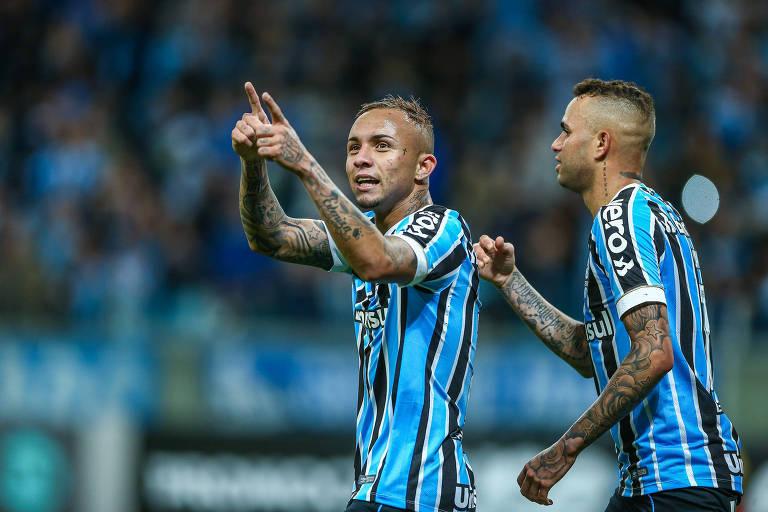 Everton comemora gol do Grêmio