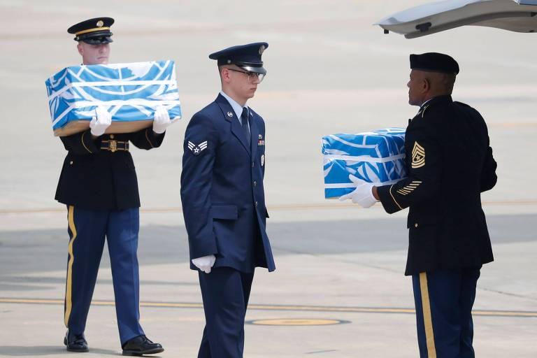 Coreia do Norte entrega restos mortais de soldados americanos desaparecidos