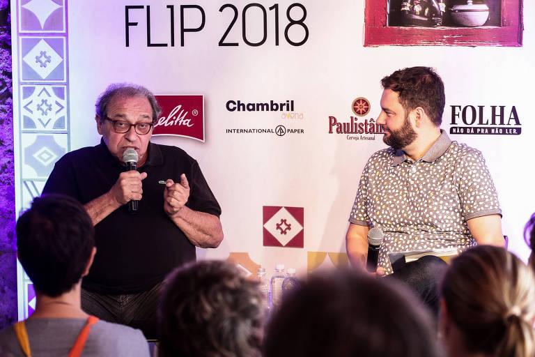 Ruy Castro participa de mesa da Casa Folha com mediação de Sérgio Dávila, em Paraty