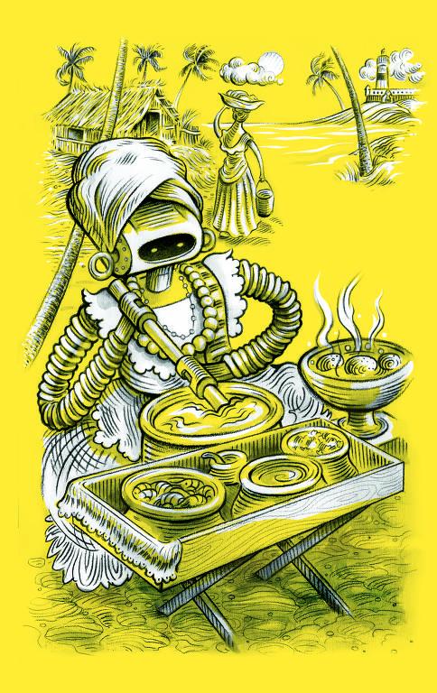 Ilustração de Ricardo Cammarota para Ilustríssima
